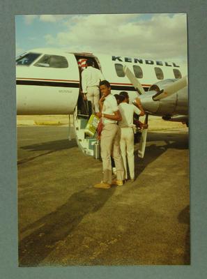 West Indies Cricket Team leaving Echuca 19 December 1984