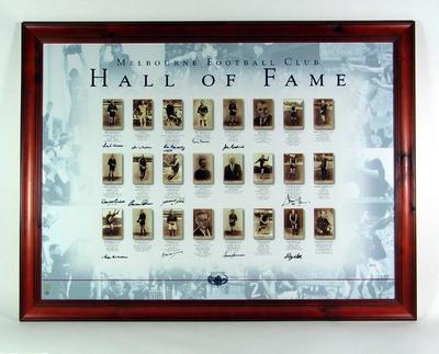 Print, Melbourne Football Club Hall of Fame; Artwork; M9975