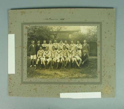 Photograph of Brighton lacrosse team, Premiers 1923