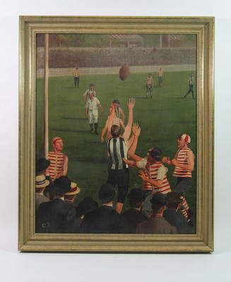 Painting - First Grand Final 1896 at East Melbourne Cricket Ground - South Melbourne and Collingwood