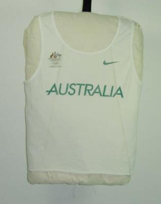 Singlet, worn by Nick Harrison at 2004 Athens Olympic Games