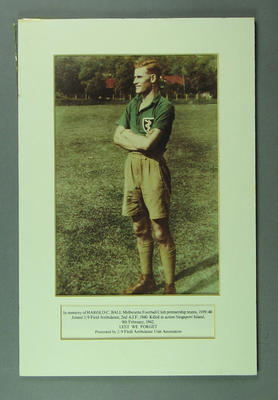 Photograph of Harold Ball, 2/9 Field Ambulance, 2nd A.I.F.; Photography; M2282
