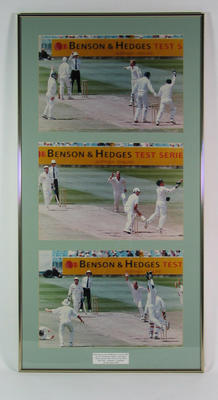Photographs of Shane Warne hat trick, MCG - 29 Dec 1994