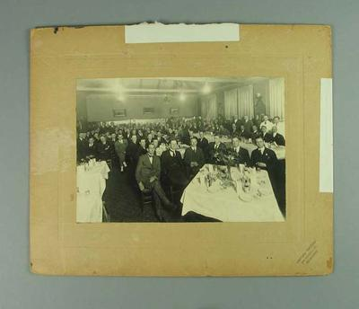 Photograph of dinner reception held for New South Wales lacrosse team, 1921