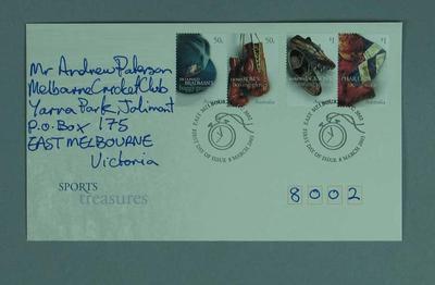 First day cover, Sports Treasures stamp issue - 8 Mar 2005