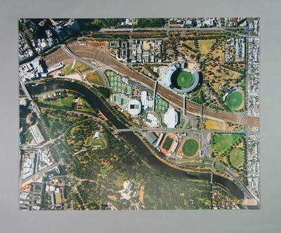 Aerial photograph of Melbourne sporting precinct, c2005