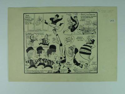 """Cartoon, """"Russian Around at Sat's Matches"""" by Wells c1964"""