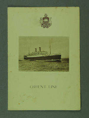 Orient Line 'SS Otranto' menu signed by Harold Larwood 13 October 1928