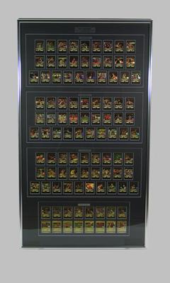 """Framed trade cards, """"AFL Team 2001"""""""
