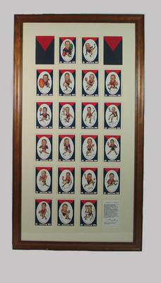 Frame for Melbourne FC 1959 VFL Premiership commemorative cards