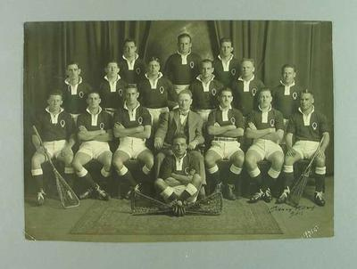 Photograph of Queensland lacrosse team, 1932