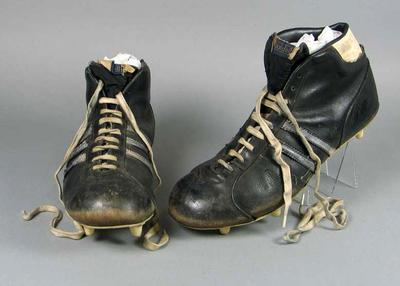 "Football boots, worn by John ""Sam"" Newman c1960s-70s"