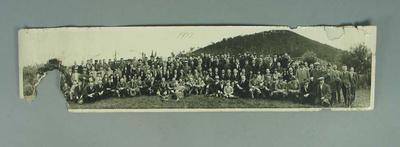 Panoramic photograph of All Australian Lacrosse Carnival teams, 1932