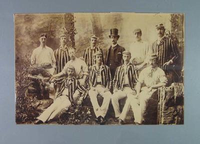 Sepia photograph, Melbourne Cricket Club team circa 1880s