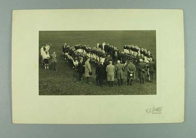 Photograph of All Australian Lacrosse Carnival opening ceremony, 1932