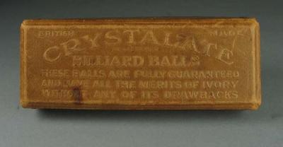 Box for billiard balls, c1942