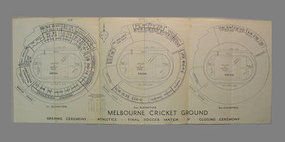 Plan of stadium seating at the MCG during the  1956 Olympic Games