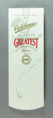 Ticket, 1992 Benson & Hedges World Cup Banquet