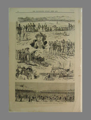 The Illustrated Sydney News 1878 'Incidents of the Late Intercolonial Cricket Match'