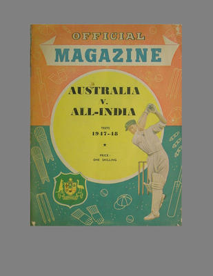 Official Magazine: Australia v All-India Tests 1947-48