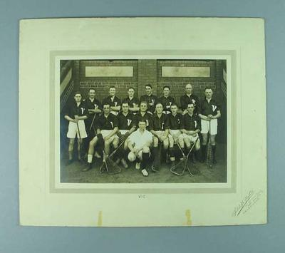 Photograph of Victorian lacrosse team, c1930s