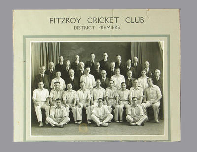 Photograph of Fitzroy Cricket Club, 1938-39; Photography; M13602.1