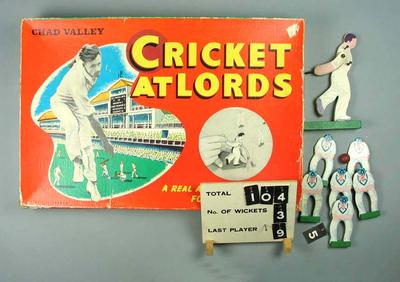 "Board game, ""Cricket at Lords"""