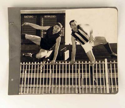 Photograph of Ron Barassi & Murray Weideman, c1960