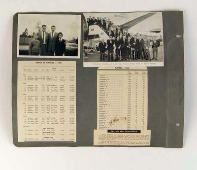Photos & clippings associated with Collingwood FC, 1960