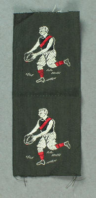 Cloth, embroidered Essendon FC players