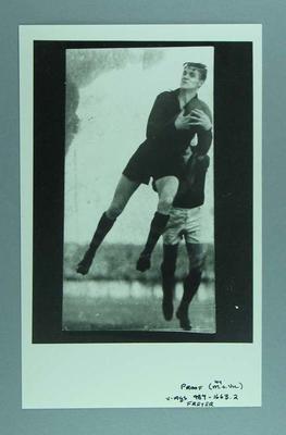 Photograph of Edward Freyer taking a mark, c1930s