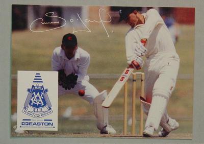VCA cricket collector's card featuring Simon O'Donnell