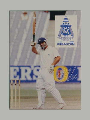 VCA cricket collector's card featuring Paul C. Nobes