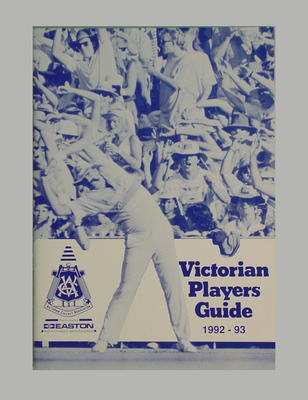 Victorian Players Guide 1992-93; Documents and books; Documents and books; M7364