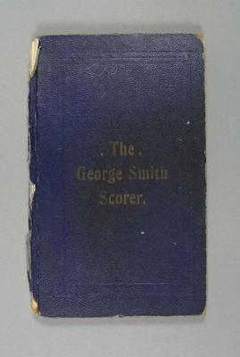 Score book:  McConchie Cricket Club - 1910-11 season