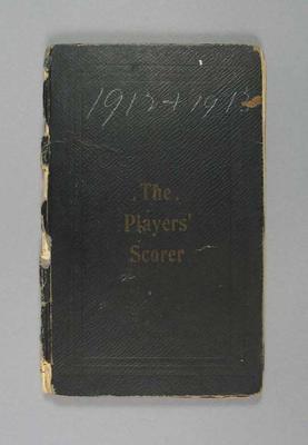 Score book:  McConchie Cricket Club - 1912-13 season; Documents and books; M7549.7