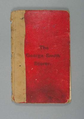 Score book:  McConchie Cricket Club - 1914-15 season