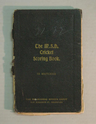Score book:  McConchie Cricket Club - 1921-22 season