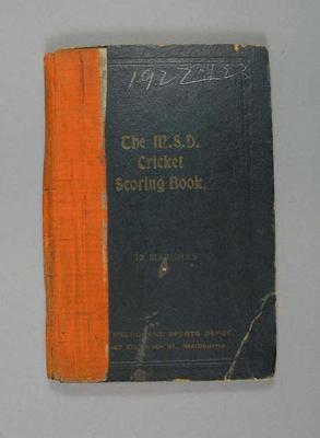 Score book:  McConchie Cricket Club - 1922-23 season