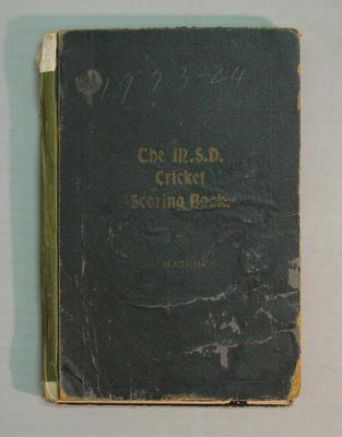 Score book:   McConchie Cricket Club - 1923-24 season