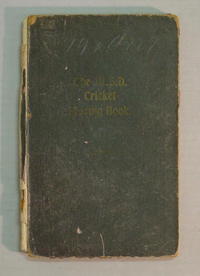Score book, McConchie Cricket Club - 1926-27 season