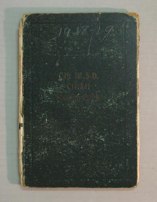 Score book:   McConchie Cricket Club - 1928-29 season
