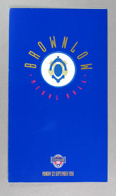 Programme, 1996 Brownlow Medal Ball