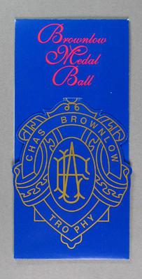 Invitation, 1996 Brownlow Medal Ball