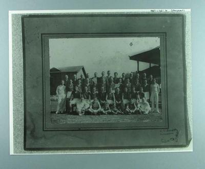 Copy photograph, depicts unidentified football team