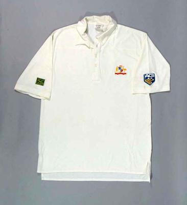 Australian cricket team shirt worn by Damien Fleming, 1994 Tour of Pakistan