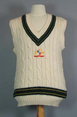 Australian cricket team vest worn by Damien Fleming, 1994 Tour of Pakistan
