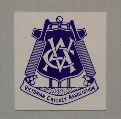 Adhesive label - Victorian Cricket Association