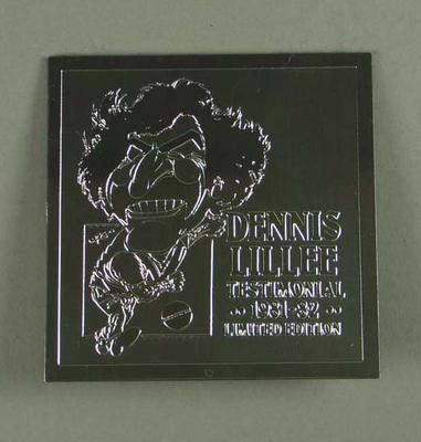 Coaster for Dennis Lillee Testimonial Dinner, 9 Dec 1981