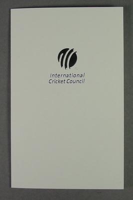 Greeting card, International Cricket Council